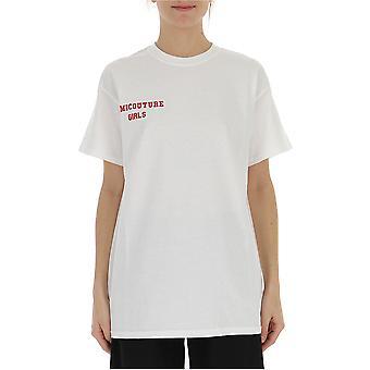 Semi-couture Alessandra White Cotton T-shirt