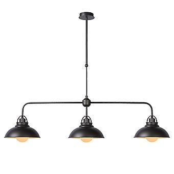 Lampa wisząca inspiracja Hamois domek metalowy żeliwa szarego