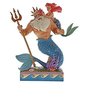 Disney Ariel und Triton Daddy es kleine Prinzessin Figurine