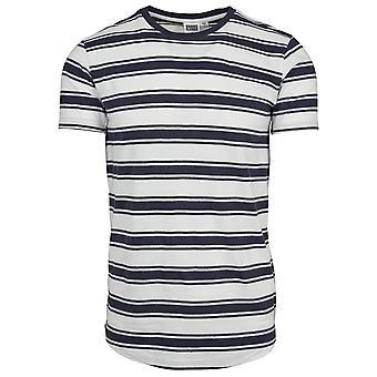 Urban Classics Herren T-Shirt Double Stripe Long Shaped