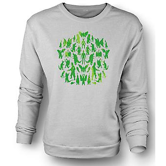 Mens Sweatshirt Dinosaurs And Dragons Collage - Cool