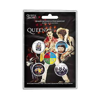 Queen Badge Pack Later Albums a kind of magic Band Logo new Official 5 pack