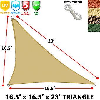 Modern Home Sail Shade Right Triangle (16.5' x 16.5' x 23')