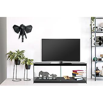 Lowboard Tv Table TV Table Chest Chest Of Drawer Sideboard Glass Wood Living Room Black