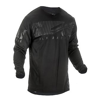 Fly Racing Black 2019 Kinetic Shield Kids MX Jersey