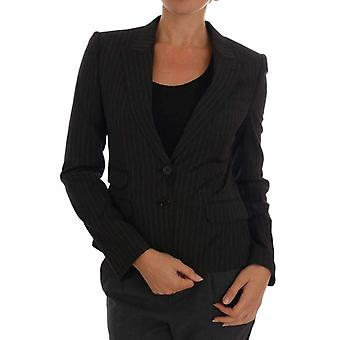 Dolce & Gabbana Black Striped Wool Blazer Jacket -- DR12183600