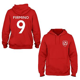 Roberto Firmino 9 Liverpool Style Player Kids Hoodie