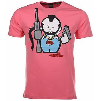 Human Gun T-shirt-Red