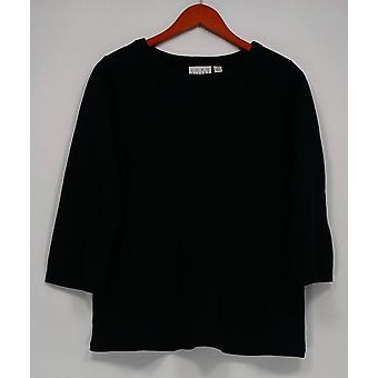 Joan Rivers Classics Collection Women's Top 3/4 Sleeve Tunic Black A273779