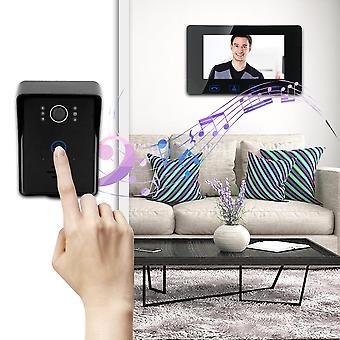 7 inch intercom monitor video deurbel LED Security camerasysteem waterdichte kleur