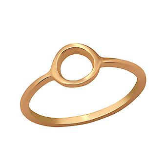 Circle - 925 Sterling Silver Plain Rings - W38599X