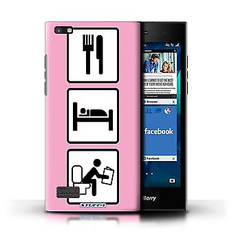 STUFF4 Case/Cover for Blackberry Leap/Poop/Pink/Eat/Sleep