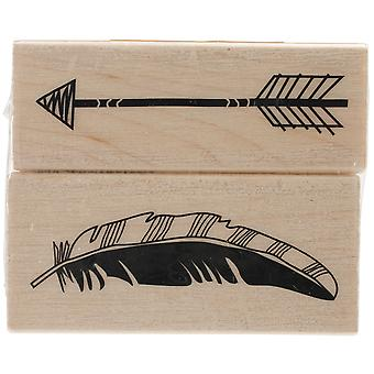 Inkadinkado Mounted Rubber Stamp Set 2.75