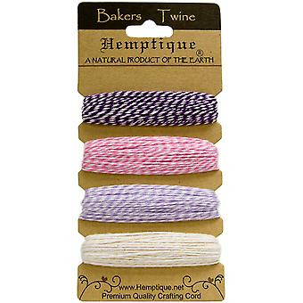 Hemptique Cotton Bakers Twine Card Set 2 Ply 410 Feet Pkg Raspberry Sorbet Btc2 2945