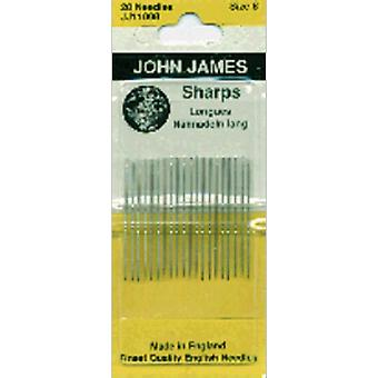 Sharps Hand Needles Size 8 20 Pkg Jj110 08