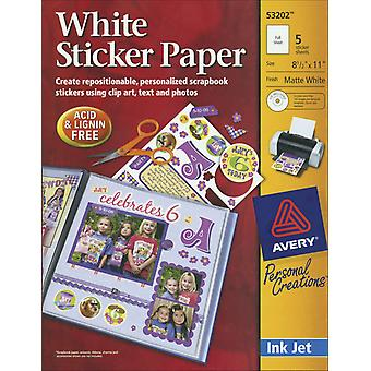 Ink Jet Sticker Paper With Cd Matte White 8 1 2