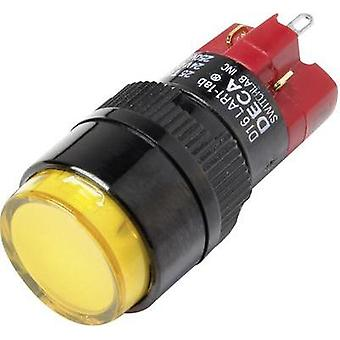 Pushbutton switch 250 Vac 5 A 1 x Off/On DECA D16LAR1-1abKY IP40 latch 1 pc(s)