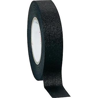 Cloth tape Coroplast Black (L x W) 10 m x 15 mm Natural rubber Content: 1 Rolls