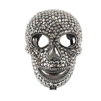 Butler & Wilson Crystal Skull forme kompakt speil - tinn