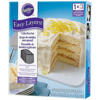 Easy Layer Square Cake Pan 4pc-6