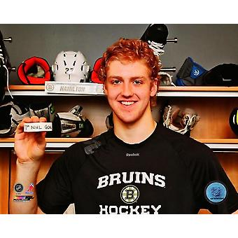 Dougie Hamilton with the puck from his first NHL Goal 2012-13 Photo Print