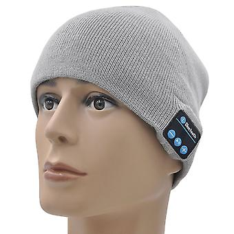 ONX3 Huawei P8 (Light Grey) Unisex One Size Winter Bluetooth Beanie Hat with Built-in Wireless Stereo Speaker Headphone