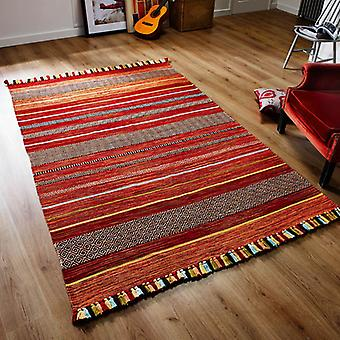 Rugs -Inca Kelim - Stripes Red