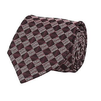 Marcell Sanders mens tie classic silk silk tie Bordeaux red diamond pattern 8 cm
