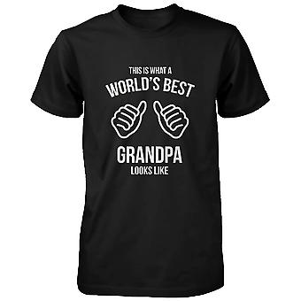 Funny Grandpa T-Shirt - This Is What A World's Best Grandpa Looks Like