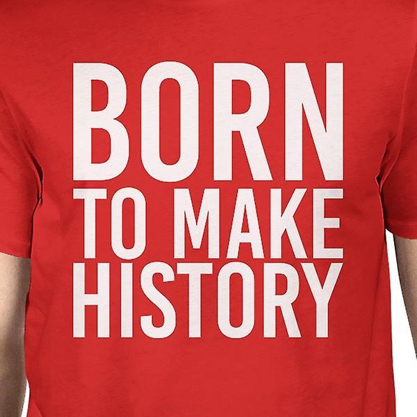 b816613f4b3136 Geboren zu Geschichte Mann rote T-shirts lustige Kurzarm T-shirt ...