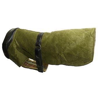 Fløjlsbukser & læder frakke grøn 20