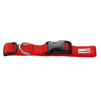 Doodlebone Bold Nylon Collar Red Medium 20mm X 40-60cm