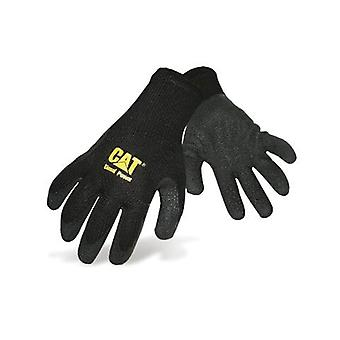 Caterpillar 17410 Mens Thermal Gripster Gloves Black Male Workwear