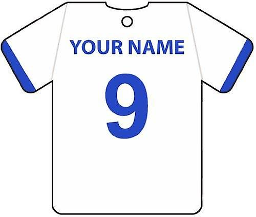 Personalised Reading Football Shirt Car Air Freshener