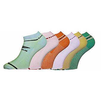 Ladies UMBRO TRAINER SPORT SOCKS Pastel Stripe 3pk 4-7