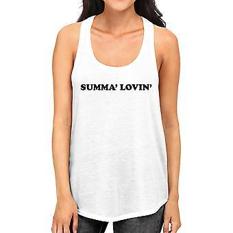 Summa' Lovin ' Womens wit schattig grafische Leather Tank Top voor haar