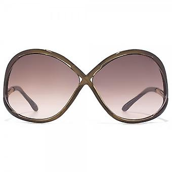 Tom Ford Ivanna Sunglasses In Shiny Bordeaux