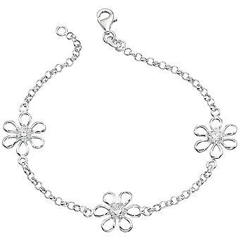 925 sølv blomst armbånd