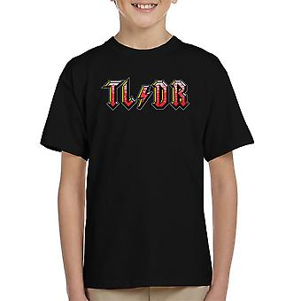 Too Long Didnt Read ACDC Logo Kid's T-Shirt
