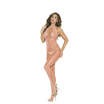 Elegant Moments EM-1652 Scroll Pattern Fishnet Bodystocking