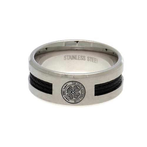 Celtic Black Inlay Ring Small