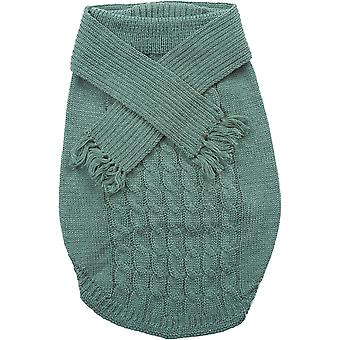 Dog Scarf Sweater-Sage Small 651984