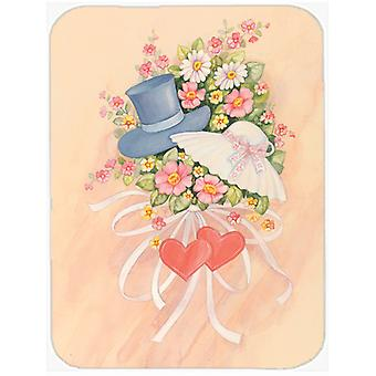 Love Valentine's Day Bouquet Glass Cutting Board Large