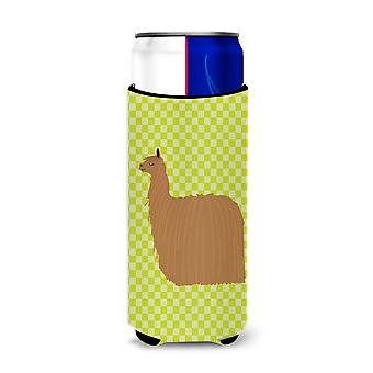 Alpaca Suri Green Michelob Ultra Hugger for slim cans