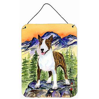 Carolines Treasures  SS8167DS1216 Bull Terrier Aluminium Metal Wall or Door Hang