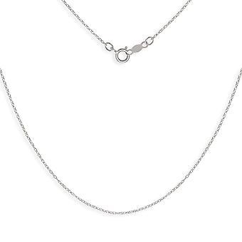 14 k ホワイト ゴールド ロープ チェーン子供ペンダント ネックレス - 15 インチ