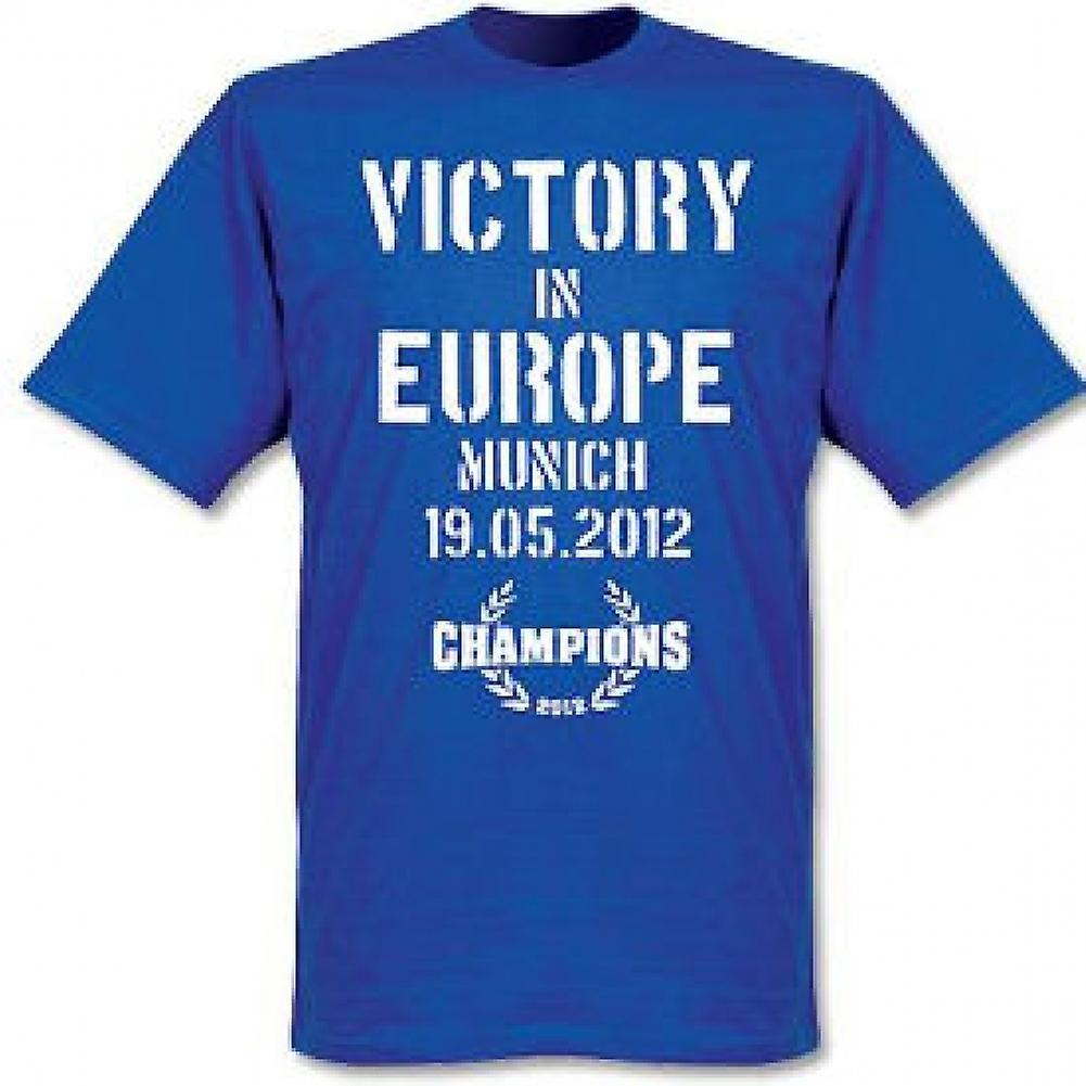 2012 Chelsea Victory in Europe T-Shirt (Blue)