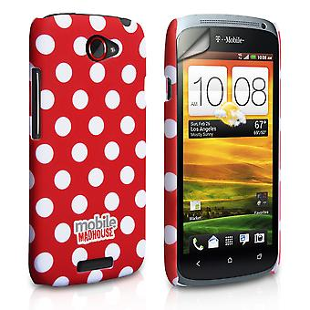 Yousave Accessories HTC One S Polka Dot Hard Case - Red