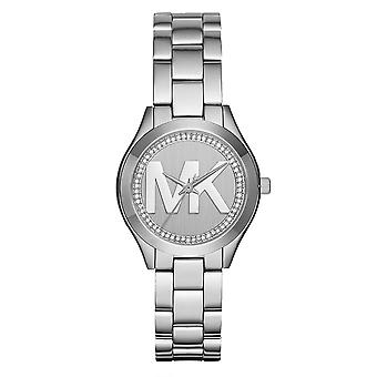 Michael Kors Watches Mk3548 Mini Slim Runway Silver Stainless Steel Ladies Watch