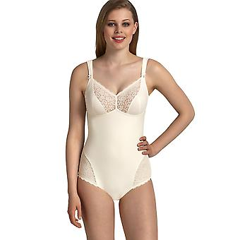 Anita Comfort 3512-612 Women's Havanna Crystal Off-White Lace Non-Wired Firm Control Slimming Shaping Corselette